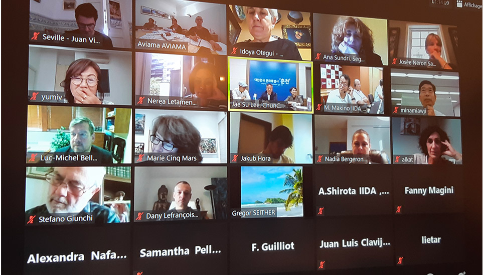 14 member cities gathered by videoconference